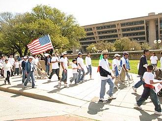 Dallas City Hall - Image: Protest March Dallas City Hall