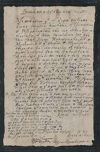 Robert Coles (settler) - Roger Williams's 1638 Providence deed (recorded 1666) naming Coles and 11 others as original proprietors