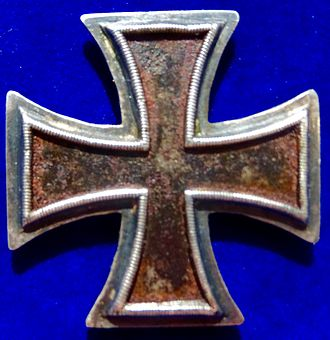 Iron Cross - Prussia, the Iron Cross 1st Class of the Napoleonic Wars, in its original form of 1 June 1813, obverse side