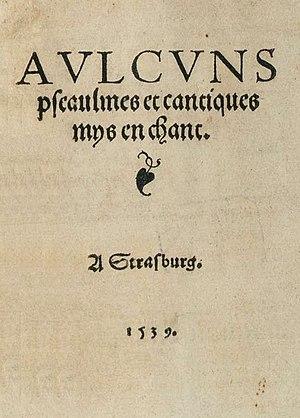 Genevan Psalter - Image: Psautier huguenot title 1539