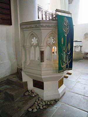 "St Mary's Church, Guildford - The pulpit from which ""Lewis Carroll"" preached"