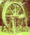 Pump wheel, Regional Resource Centre, Beamish Museum, 11 September 2011 (cropped).jpg