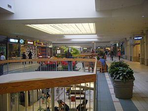 Quaker Bridge Mall - Second floor looking from Sears in 2008, before the mall was renovated