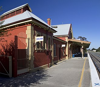 Queanbeyan railway station - Southbound view in January 2012