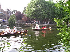 Thames skiff - Swan upping in skiffs