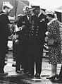 Queen Elisabeth II aboard USS Ranger (CV-61) 1983.jpg