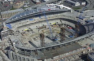 CenturyLink Field - The stadium under construction in 2001