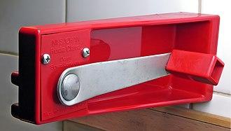 Can opener - Can opener Röda Clara (Red Clara) Design by Sigvard Bernadotte.