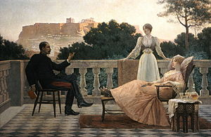 Iakovos Rizos - Athenian Evening or On the Terrace, 1897