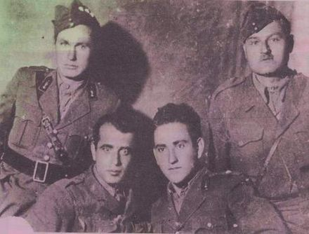 The band of Alexandros Rosios (second from right) attacked the police station in Litochoro, the night of the March 1946 elections ROSIOS-1.jpg