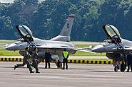 RSAF F-16´s preparing to scramble