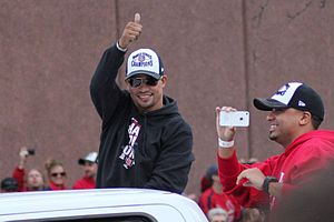 Rafael Furcal - Furcal during the 2011 World Series Parade