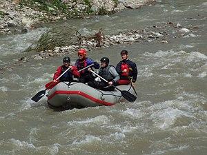 Belá (river) - Rafting on the Belá River (June 2010)