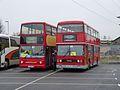Rail replacement buses V301 KGW & A101 SYE, Three Bridges, 12 January 2014 (2).jpg