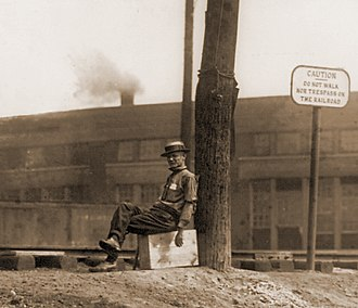 Great Railroad Strike of 1922 - One of the tens of thousands of private guards hired by railroad companies to protect company assets and defend strikebreakers during the 1922 Railway Shopmen's Strike.
