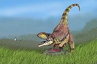 Rekonstrukce vzhledu rajasaura, zástupce skupiny