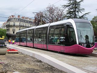 tramway system in Dijon, France