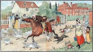 The Diverting History of John Gilpin - Illustration by Randolph Caldecott.