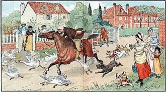 John Gilpin - Illustration by Randolph Caldecott for The Diverting History of John Gilpin