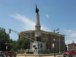 Randolph County Courthouse and monument.jpg