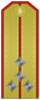 Rank insignia of Капитан of the Bulgarian Army.png