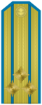 Rank insignia of Полковник of the Bulgarian Air forces.png