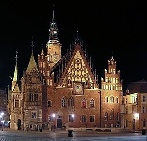 Seat of local government - 13th-century Old Town Hall in Wrocław, Poland