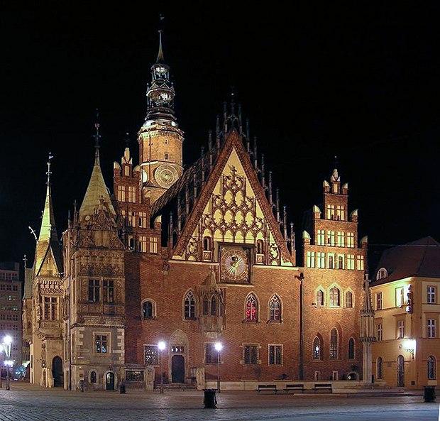 fasada ratusza we Wrocławiu