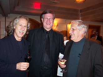 Lou Marini - Left to right: Lou Marini, Ray Reach, and Ernie Stires at a reception following a Carnegie Hall concert, 2004