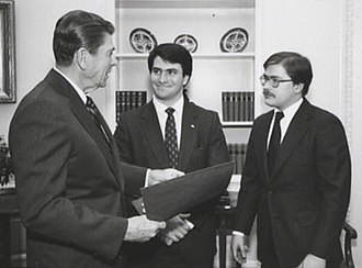 Jack Abramoff - Ronald Reagan meeting with Jack Abramoff and Grover Norquist in connection with the College Republican National Committee, 1981