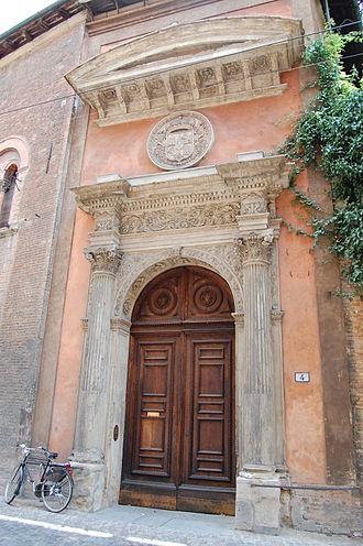 Collegio di Spagna - Main door of the Collegio di Spagna.