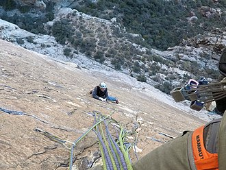 Mammut Sports Group - Mammut harness used in Red Rocks, Nevada.
