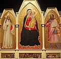 Refettorio santa croce, nardo di cione, madonna col bambino fra san guido e san giobbe.JPG
