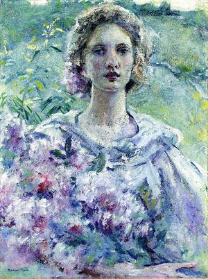 Robert Lewis Reid - Girl with Flowers