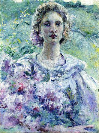 Robert Lewis Reid - Girl with Flowers