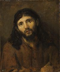 Head of Christ (after 'Dinner at Emmaus' in Louvre)