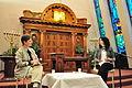 Reut Cohen being interviewed 01.jpg