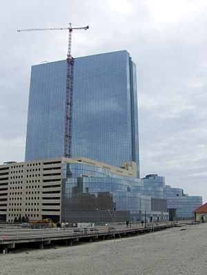 TEN Atlantic City - View of the Construction of the Revel Resort from the beach in October 2011