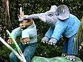 Rhino and elephant, Haw Par Villa (Tiger Balm Theme Park), Singapore (41369131).jpg