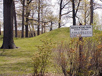 National Register of Historic Places listings in Barron County, Wisconsin - Image: Rice Lake Mounds (47 BN 90)