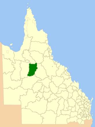 Shire of Richmond - Location within Queensland