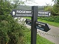 Ridgeway-Oxfordshire Way X roads - geograph.org.uk - 585786.jpg