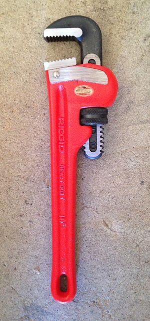 Pipe wrench - A modern pipe wrench.