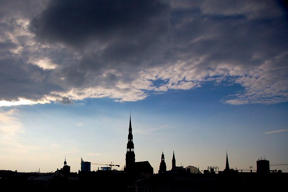 Riga silhouette