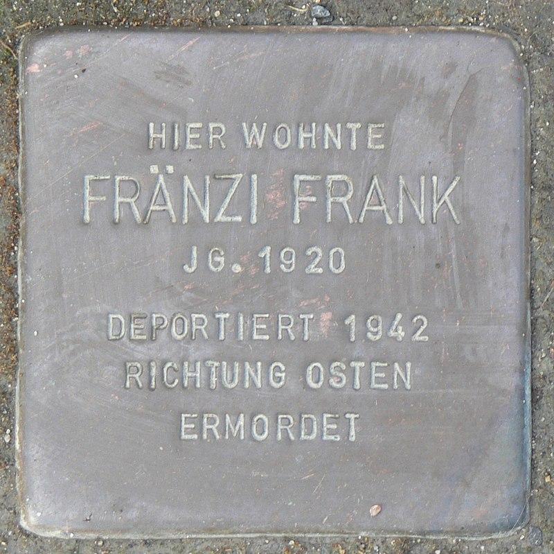 Rimpar Stolperstein Frank, Fränzi.jpg