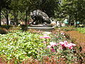 Rittenhouse Square - Lion killing a snake.JPG