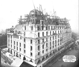 The Ritz Hotel, London - The Ritz under construction in October 1905