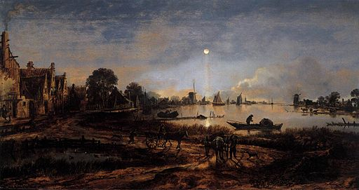 River View by Moonlight c1645 Aert van der Neer