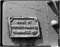 Robert A. Ryan, photographer. BUILDERS' PLATE, SPAN 8 (PRATT) - Eagle Point Bridge, Dubuque, Dubuque County, IA HAER IOWA,31-DUBU,3-79.tif