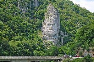 Rock sculpture of Decebalus - The rock sculpture of  Decebalus